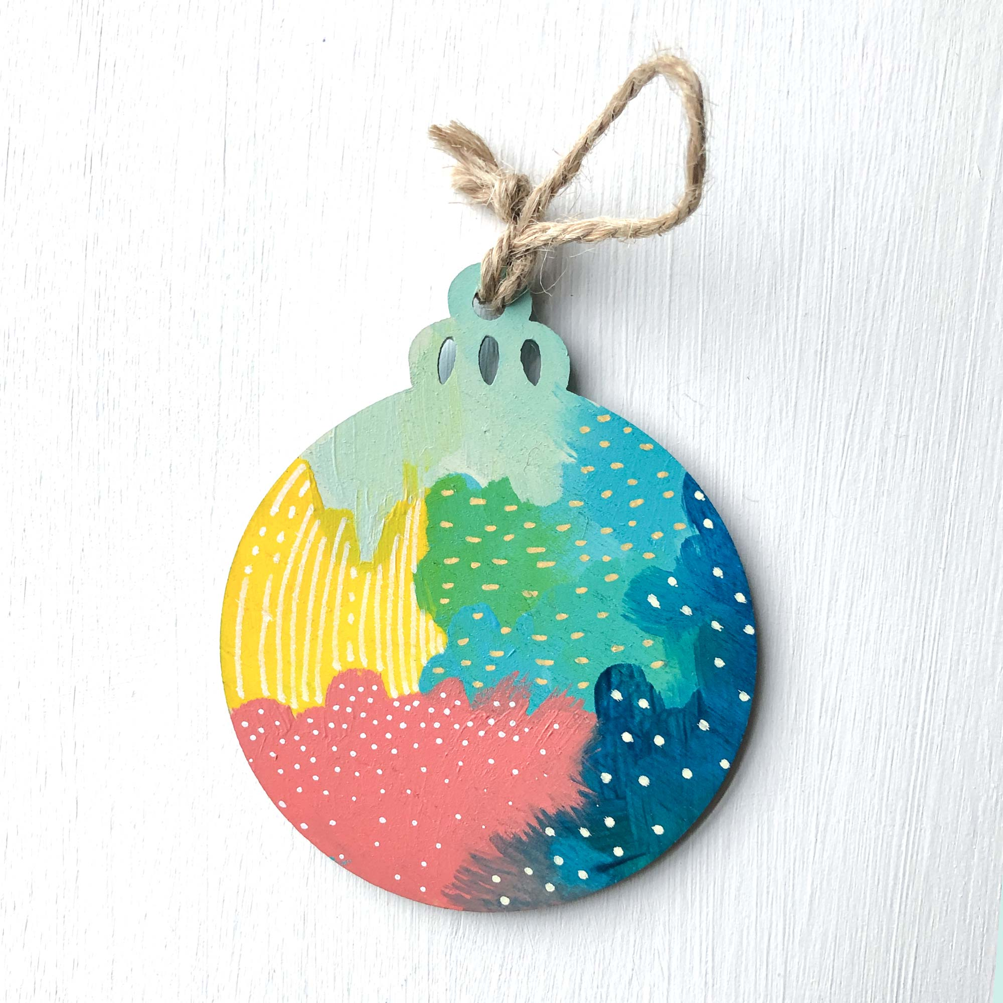Hand-Painted Christmas Ornament XXI
