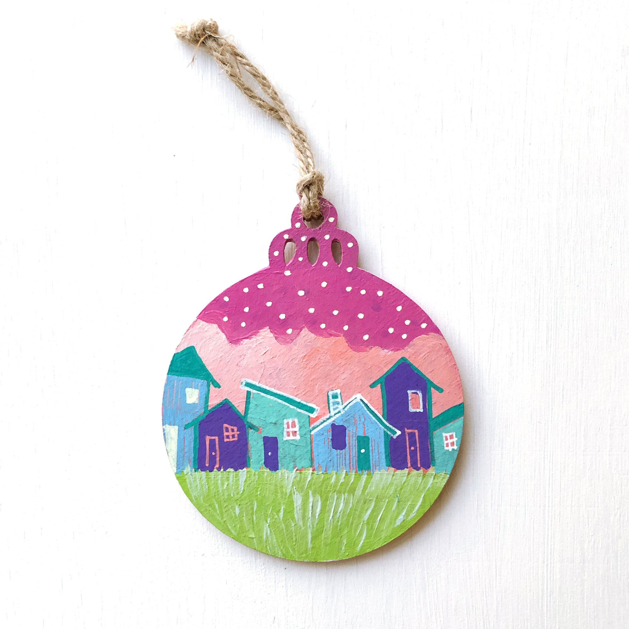 Hand-Painted Christmas Ornament XXXV