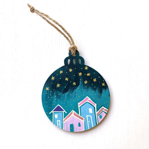 Hand-Painted Christmas Ornament XXXVI