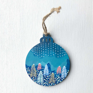 Hand-Painted Christmas Ornament IV