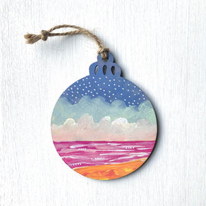 Hand-Painted Christmas Ornament IX