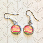 Abstract Seascape II - Dangle, Stud or Leverback Earrings