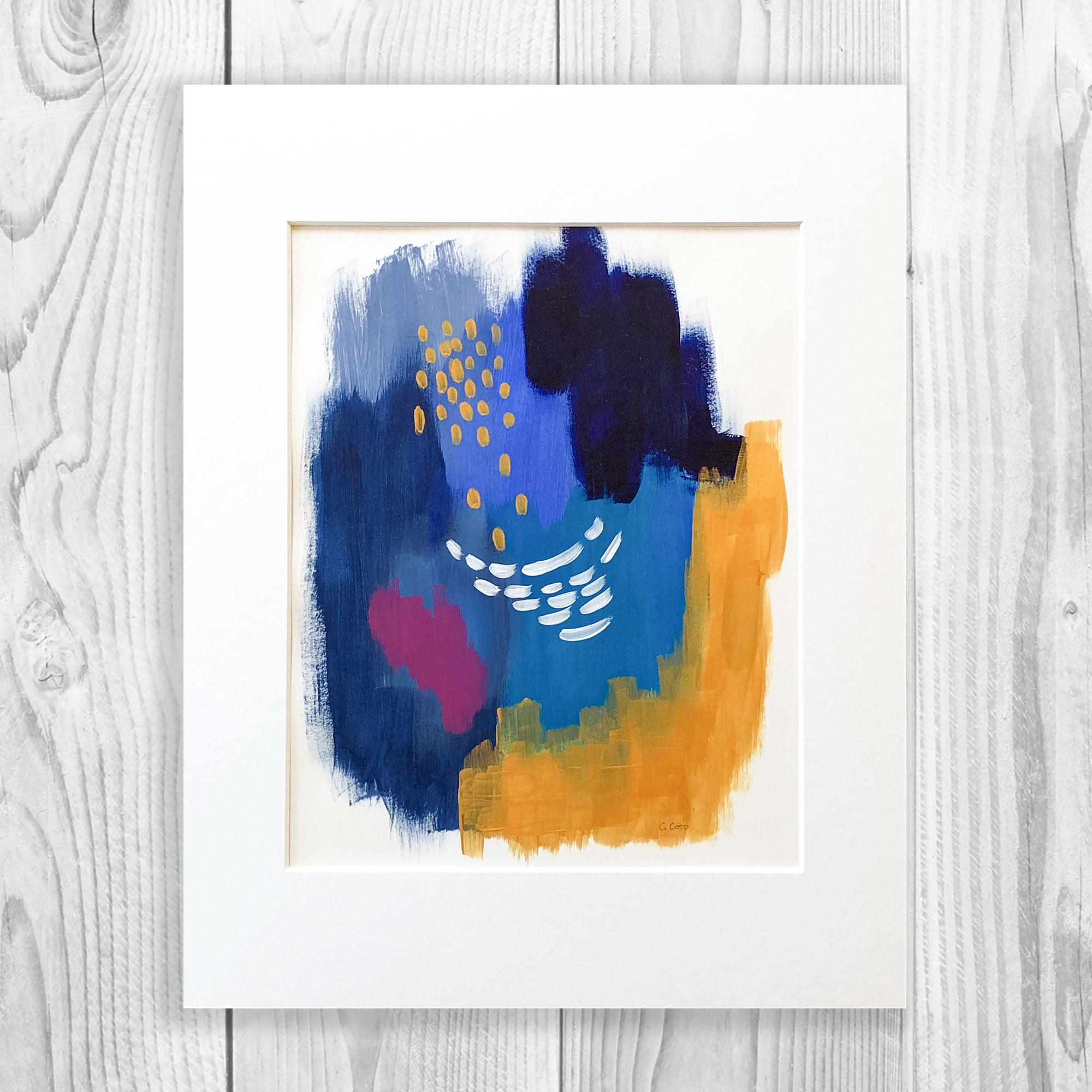 Abstract VIII - Unframed, Matted to Standard Frame Size