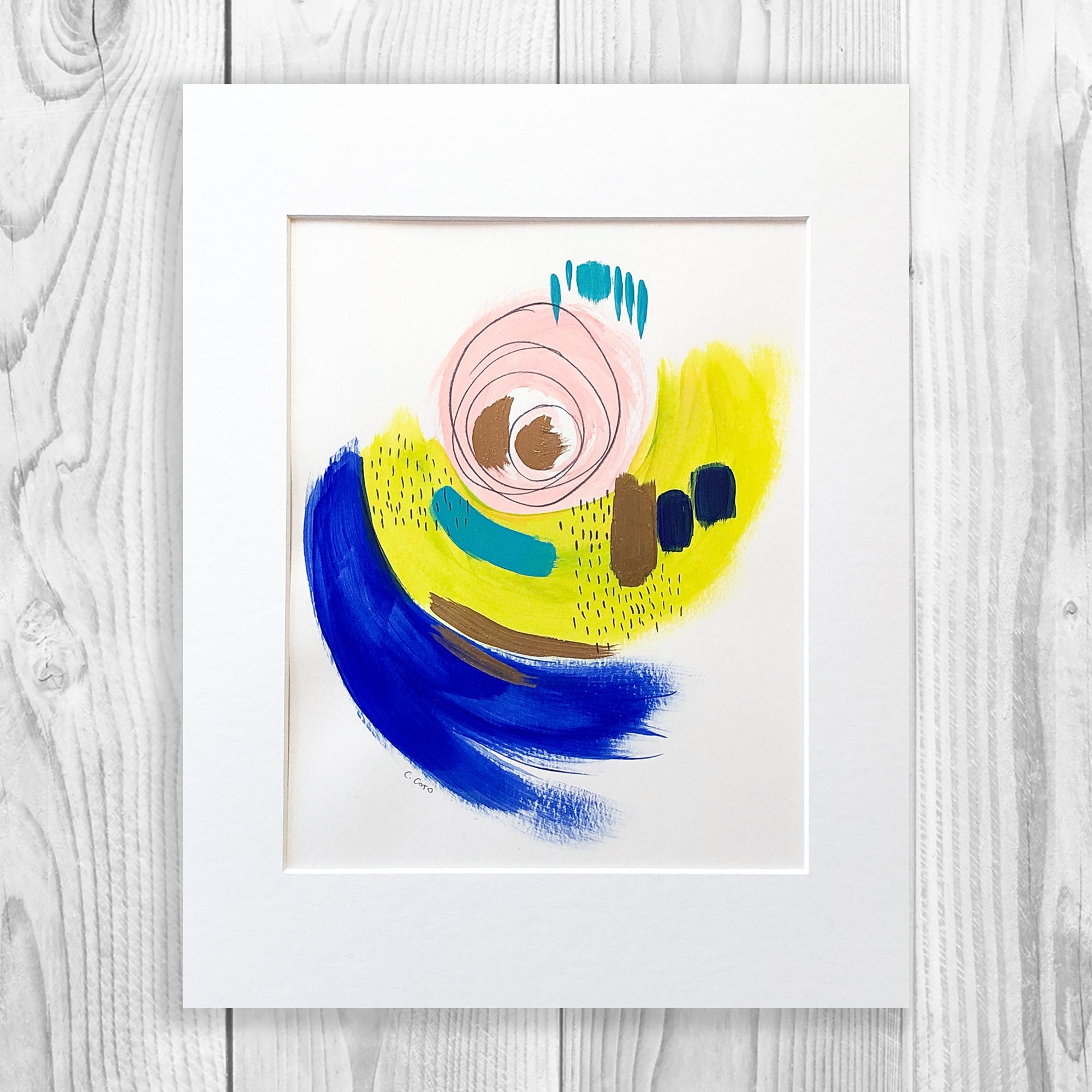 Abstract VII - Unframed, Matted to Standard Frame Size