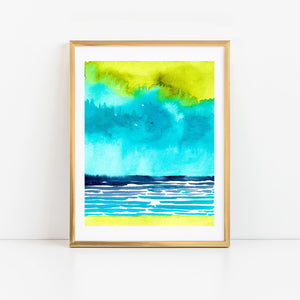 Abstract Watercolor Seascape I
