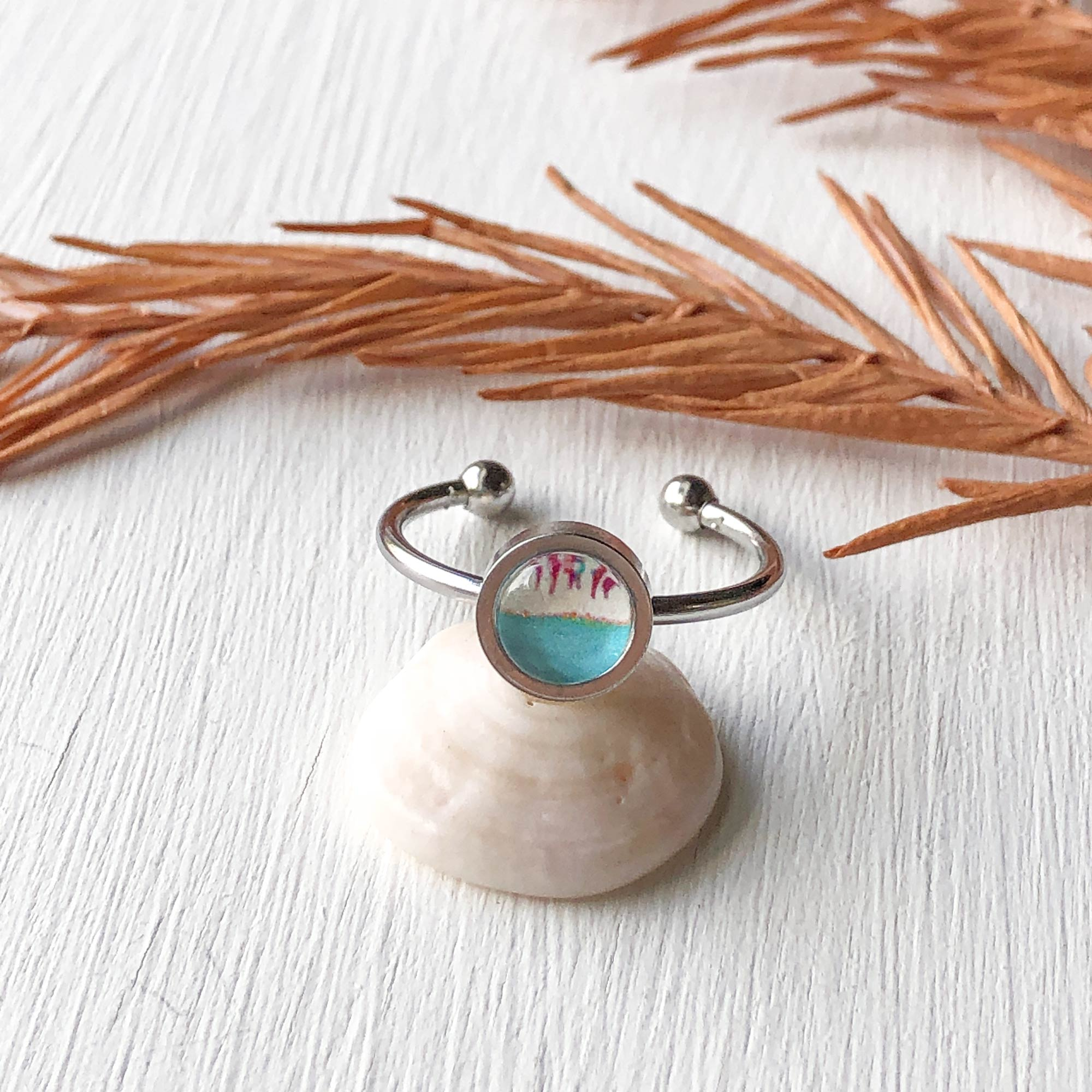 April Showers - Adjustable Tiny Ring