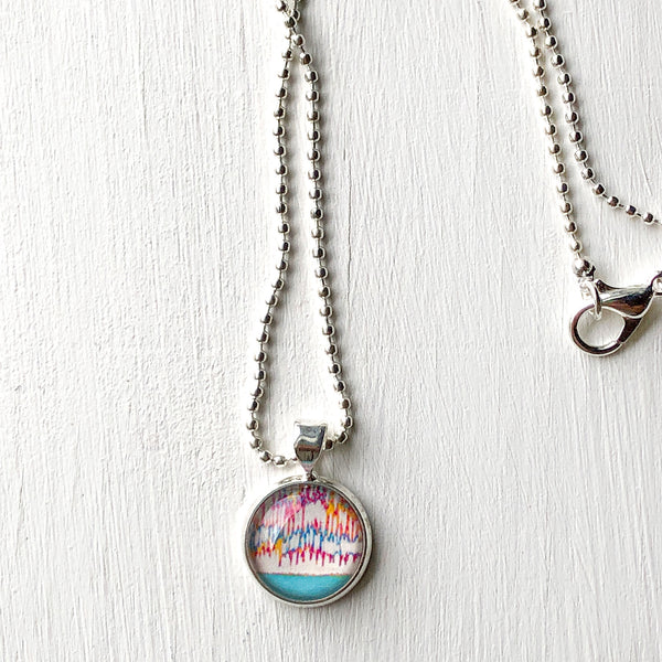 April Showers - Small Round Necklace