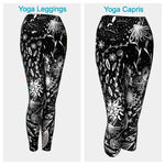 Black and White Floral Leggings or Capris