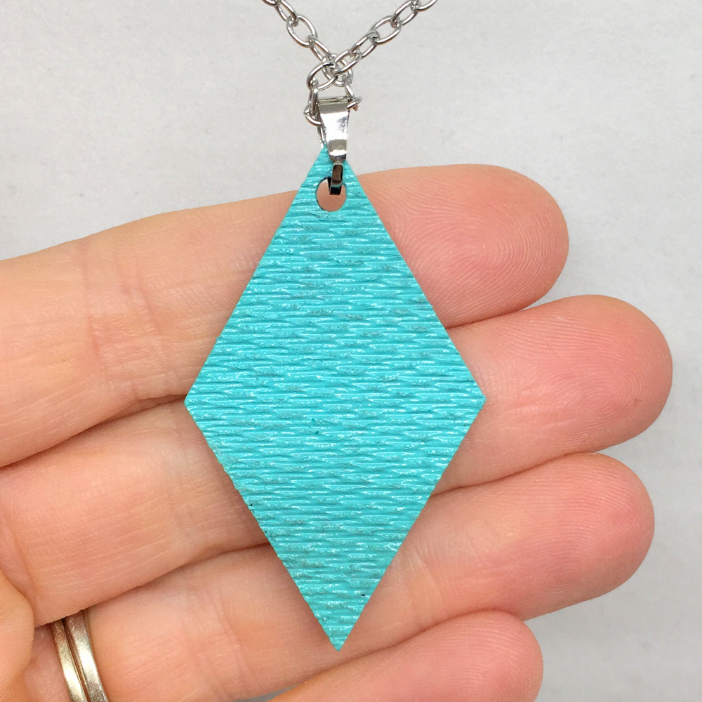 Hand Painted Pendant - Boho Diamond II