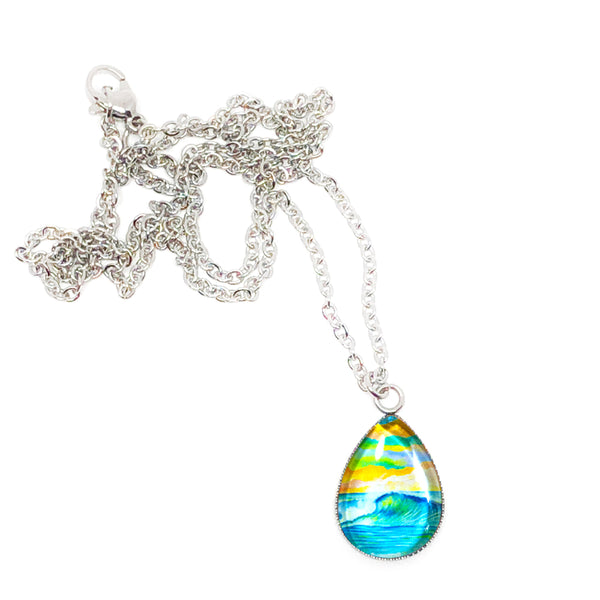 Bright Day - Stainless Steel Teardrop Necklace or Set