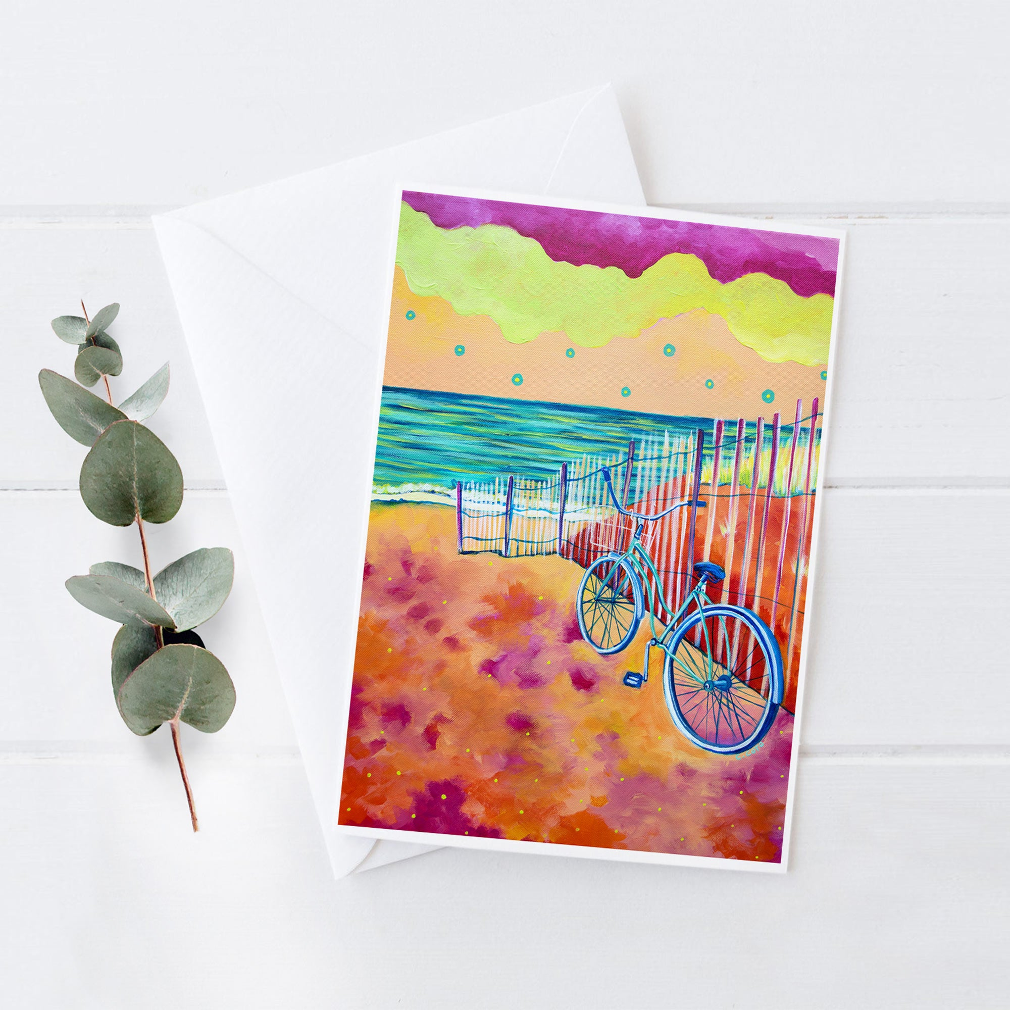 Calm Seas and Cruiser - 5x7 Notecard