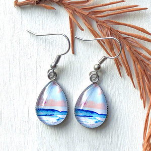 Candy Seascape - Stainless Steel Earrings