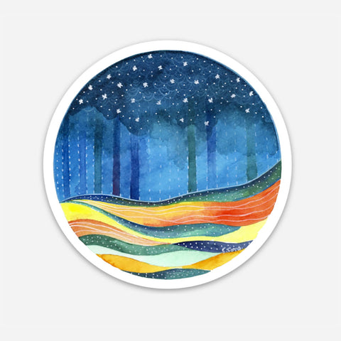 Circle Seascape Sticker