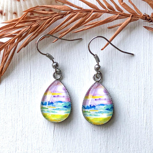 Costa Rican Landscape IV - Stainless Steel Earrings