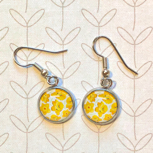 Daffodils - Dangle, Stud or Leverback Earrings
