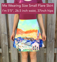 Floral Blues Skirt (Fitted or Flare)