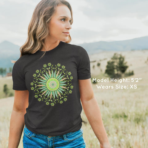 Floral Mandala - Bella + Canvas -UNISEX- Short Sleeve T-Shirt