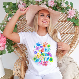 Floral XVI - UNISEX Bella + Canvas Short Sleeve T-Shirt