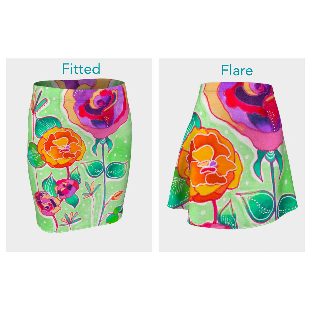 Floral X Skirt (Fitted or Flare)