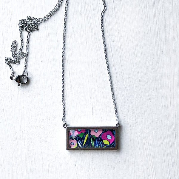 Folk Floral - Bar Necklace