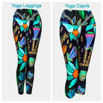 Folk Floral Leggings or Capris