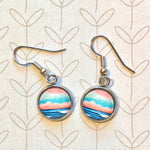 Graphic Seascape I - Dangle, Stud or Leverback Earrings