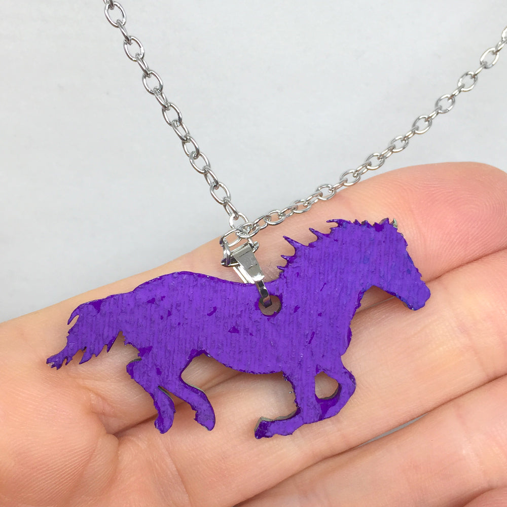 Hand Painted Pendant - Colorful Horse II