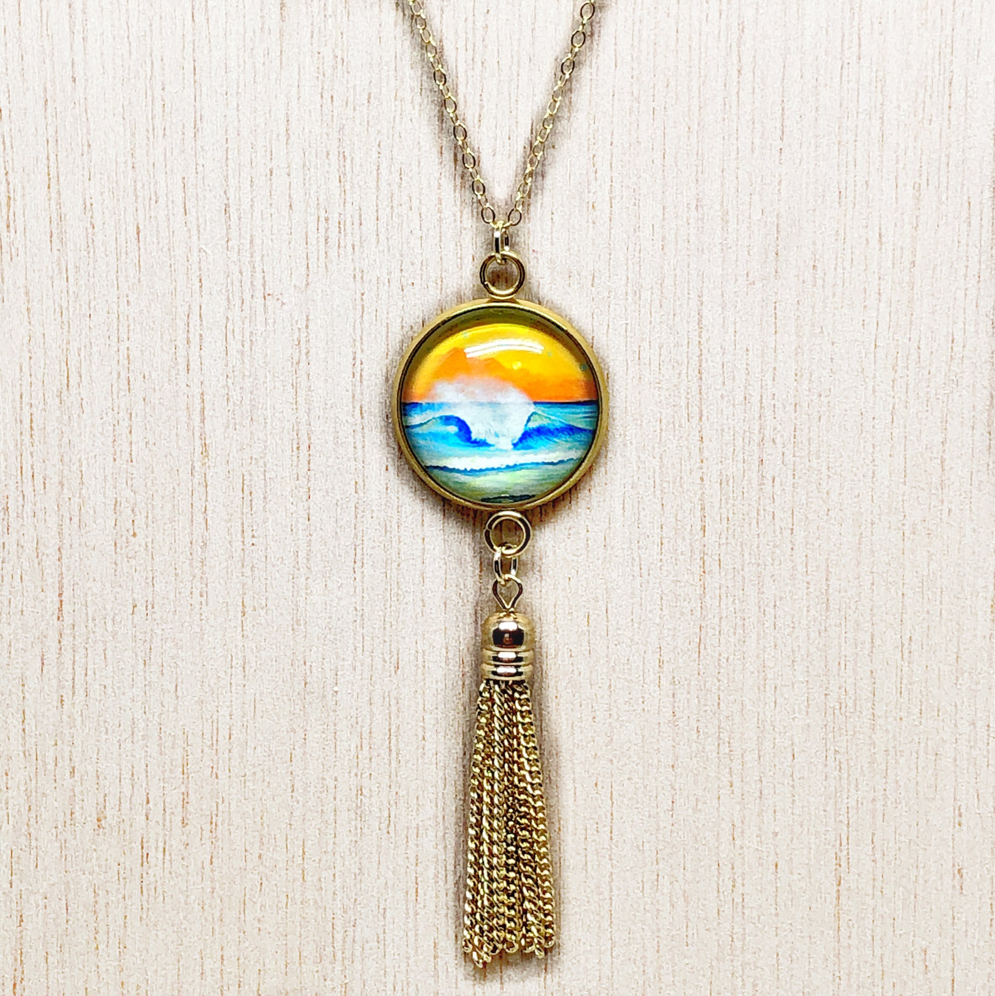 Wave 2.4 - Gold Filled Chain Tassel Necklace