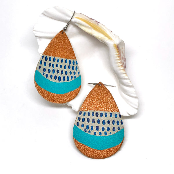 Hand Painted Earrings - Rain Storm