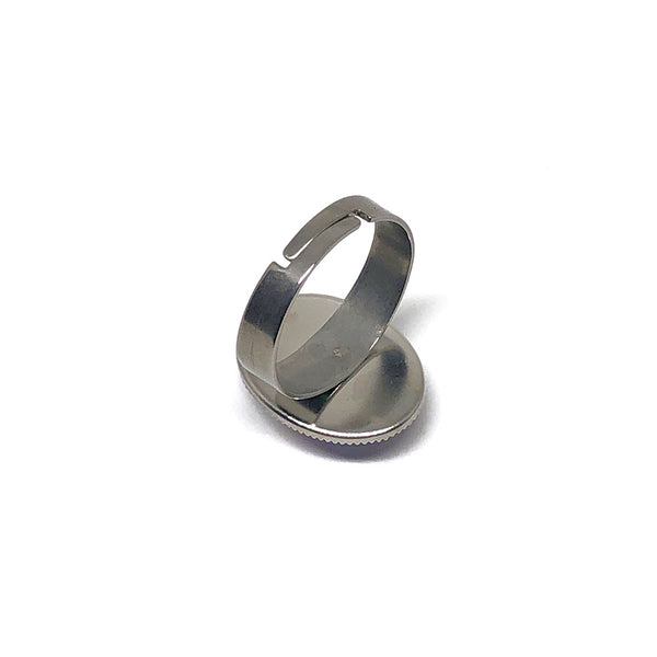 Stardust - Stainless Steel Adjustable Ring