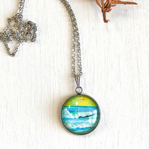 Avalon Spring - Stainless Steel Necklace