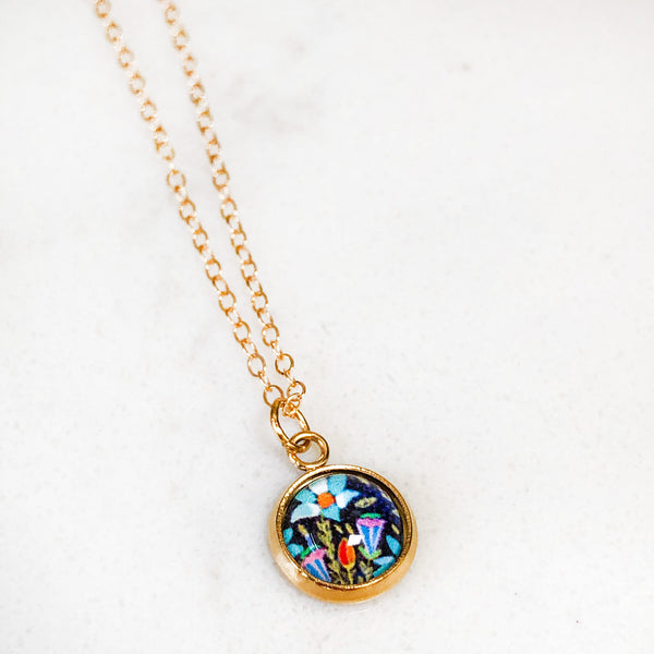 Dainty Necklace - Folk Floral