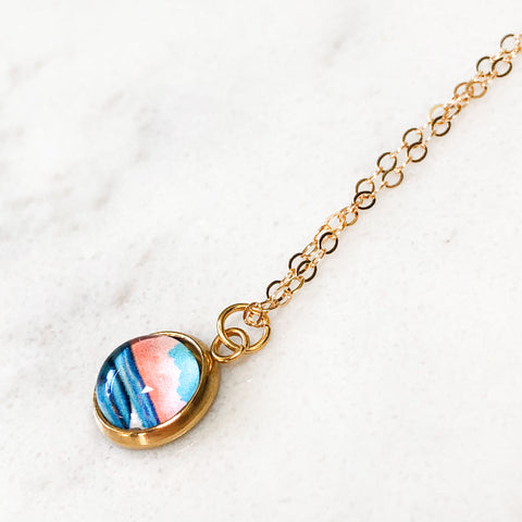 Dainty Necklace - Graphic Seascape I