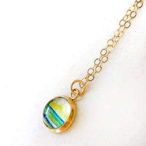 Dainty Necklace - Green Dream