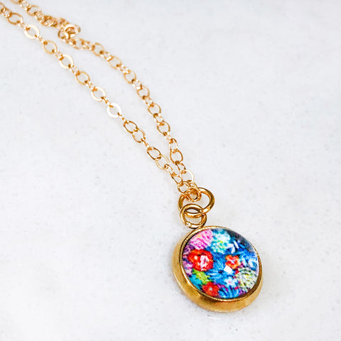 Dainty Necklace - Vibrant Bouquet