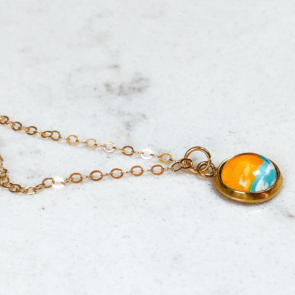 Dainty Necklace - Abstract Seascape V