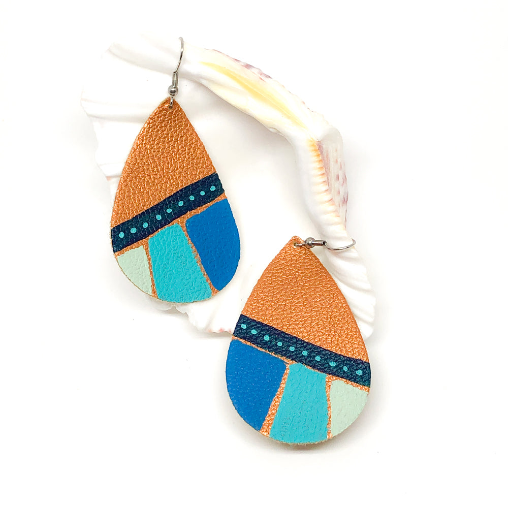 Hand Painted Earrings - Blues Fest