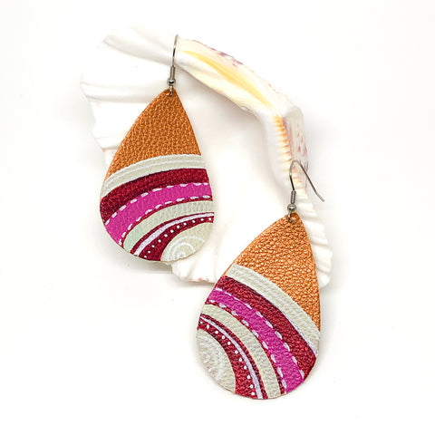 Hand Painted Earrings - Pinks and Creams
