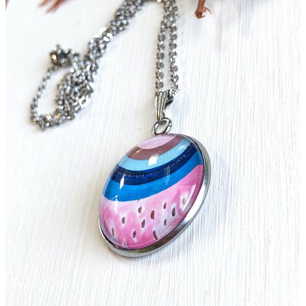 Inverted Rainbow - Stainless Steel Necklace