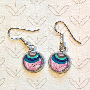 Inverted Rainbow - Dangle, Stud or Leverback Earrings