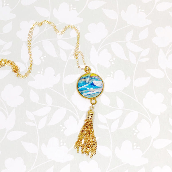 Pier II - Gold Filled Chain Tassel Necklace