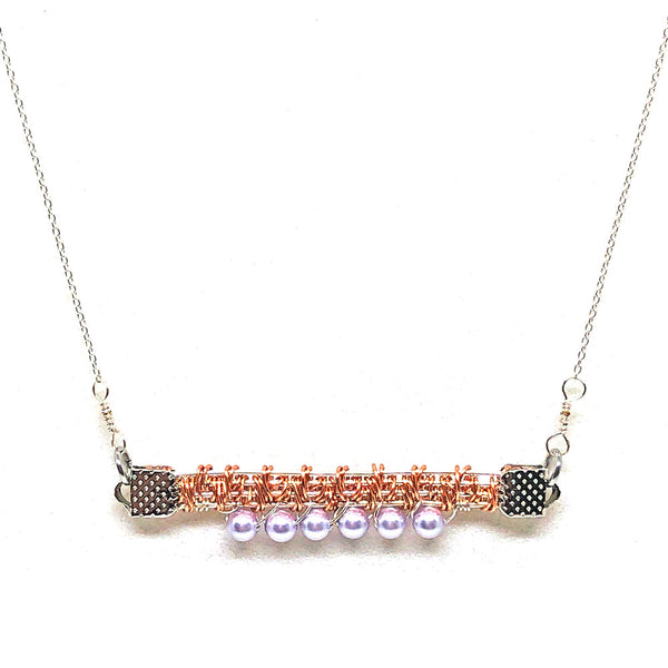 Lavender Sky - Gemstones and Wirework Necklace