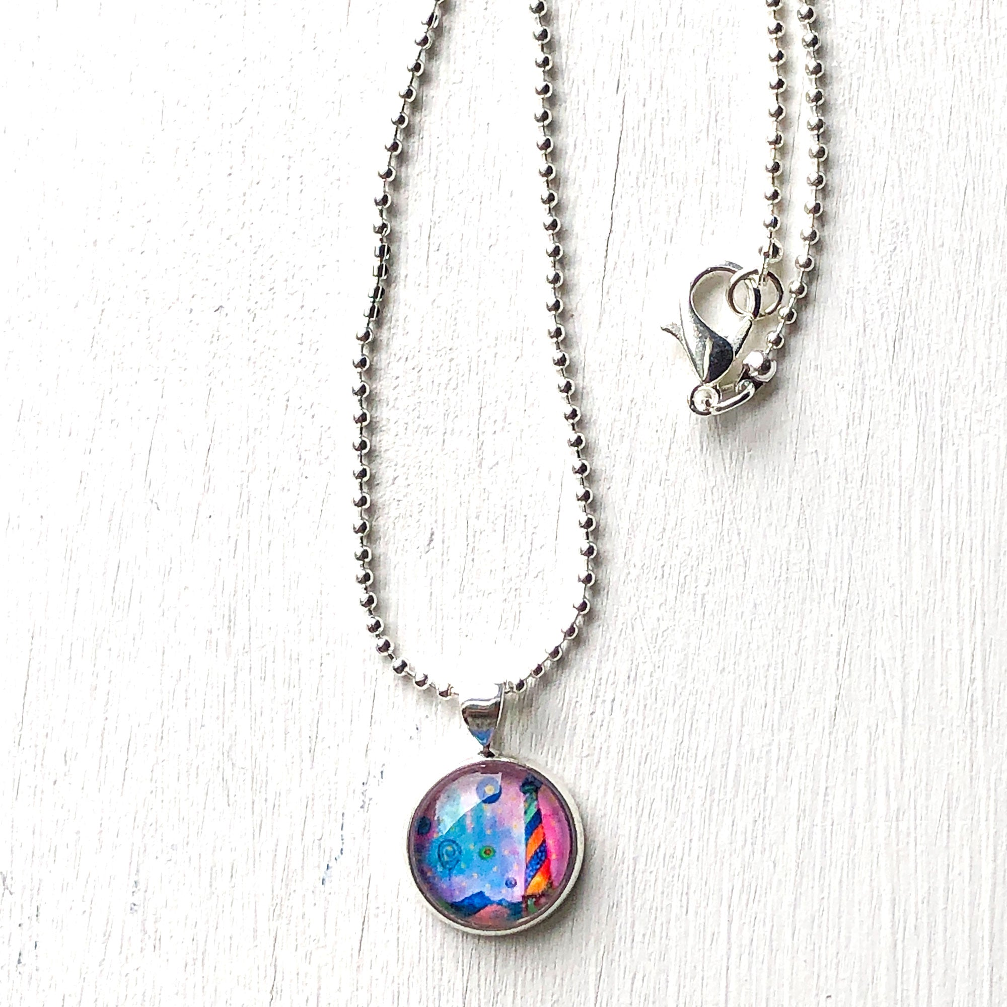 Lighthouse II - Small Round Necklace
