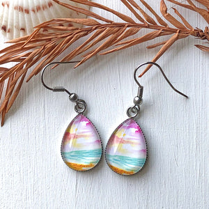 Lively Seascape - Stainless Steel Earrings