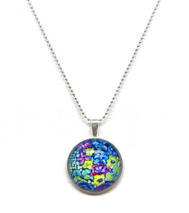 Lush Floral - Small Round Necklace