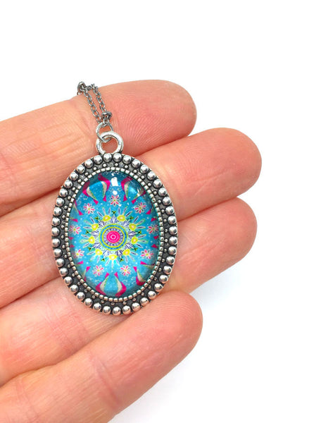 """Mandala II"" - Vintage Oval Necklace"
