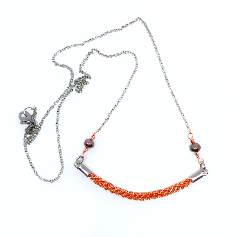 Sunrise Walk - Gemstones and Wirework Necklace