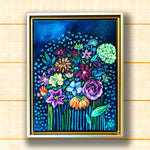 Night Floral II - Framed