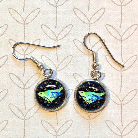 Night Bird - Dangle, Stud or Leverback Earrings