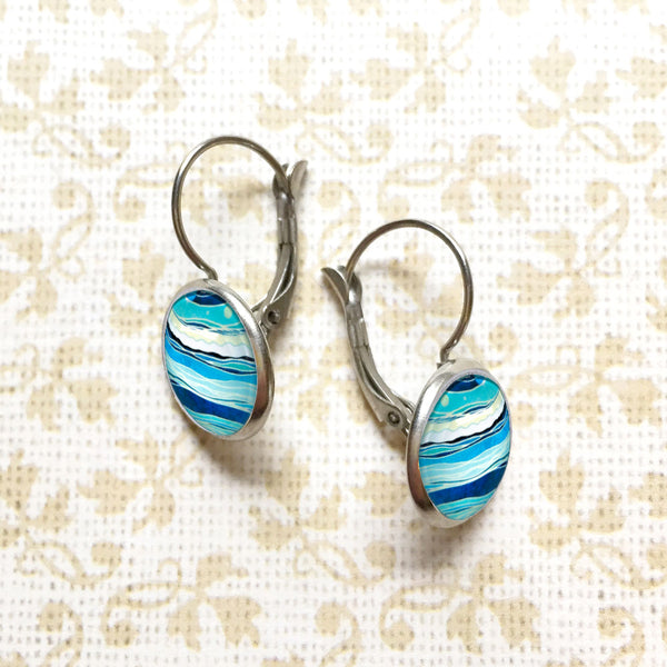 Ocean - Dangle, Stud or Leverback Earrings